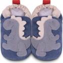 Chaussons bébé Shooshoos Dino bleu