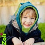 Capuchons enfants Zoli - corail / rose pâle