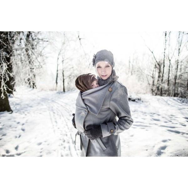 9c656c00d3fa Symbioza - Manteau de portage en laine gris angel wings