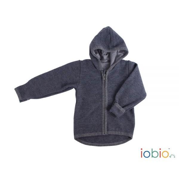 Symbioza - Veste à capuche en laine foulée Iobio 9706b166969