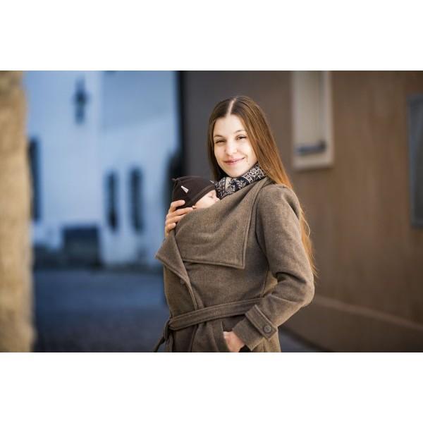Symbioza - Manteau de portage en laine Marron glacé angel wings 48f9cf1cc7d