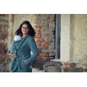 Manteau de portage en laine Bleu-vert Angel Wings