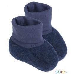 Chaussons en laine foulée Iobio