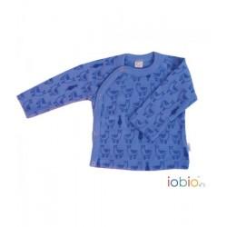 Chemise croisée en maille fine de laine Iobio