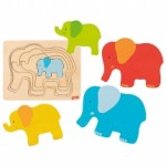 Puzzle à couches - Elephants - Goki