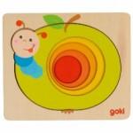 Puzzle à couches - Chenille dans la pomme - Goki