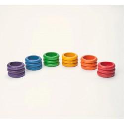 18 anneaux colorés - Grapat