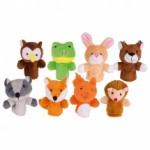 Animaux de la forêt - marionnettes à doigt - Goki