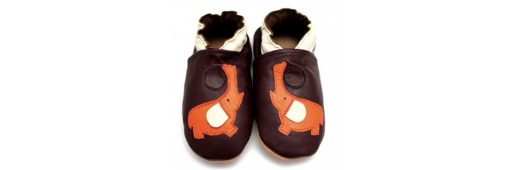 e2221463ebf17 Symbioza - chaussons en cuir souple taille 6-12 mois - Symbioza